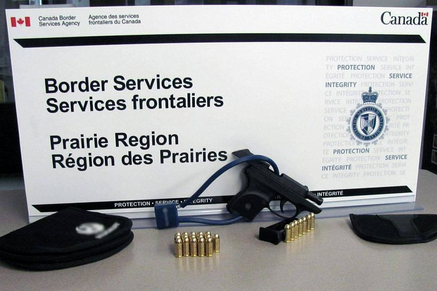 Canada's border agency launched a public awareness campaign on Monday reminding Americans about their relatively strict firearms laws.