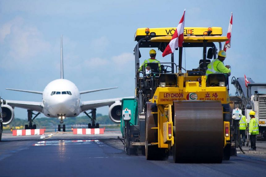 Airfield maintenance project at by Ley Choon Group Holdings at Changi International Airport.