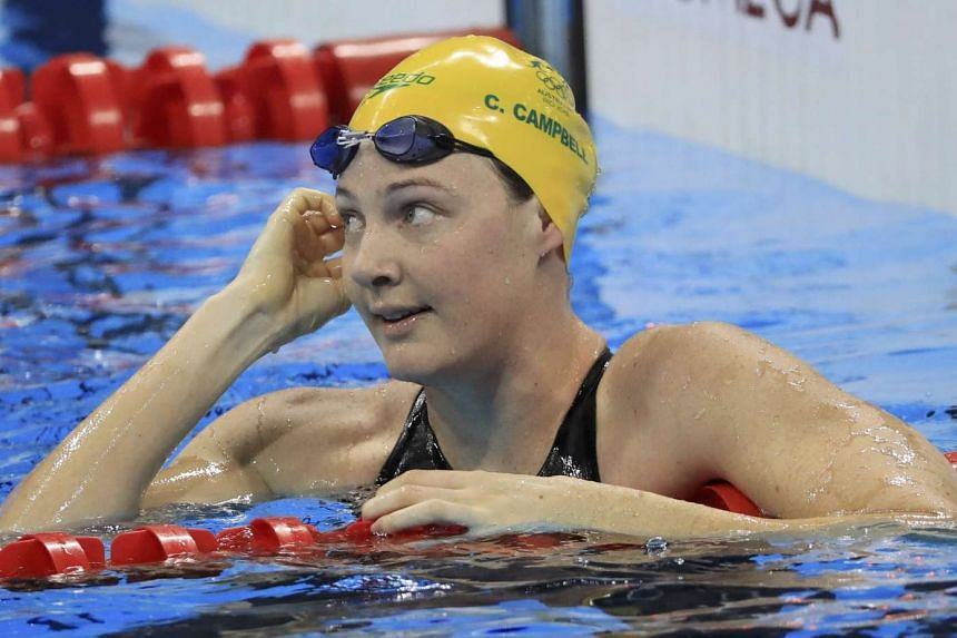 Australia's Cate Campbell competed at Rio despite the recurrence of hernias.