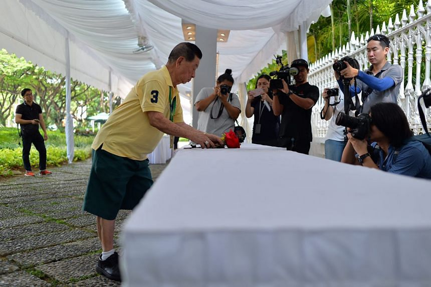 """Mr Mok Yong Khiam, 84, a part-time worker at McDonald's, recalled Mr Nathan as a """"very good and humble man""""."""