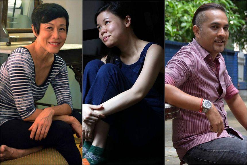 (From left) Actress Tan Kheng Hua, Cui Yin Mok and Imran Manaff.