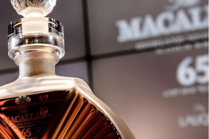 The Peerless Spirit (above) is a collaboration between Speyside distillery The Macallan and Lalique.