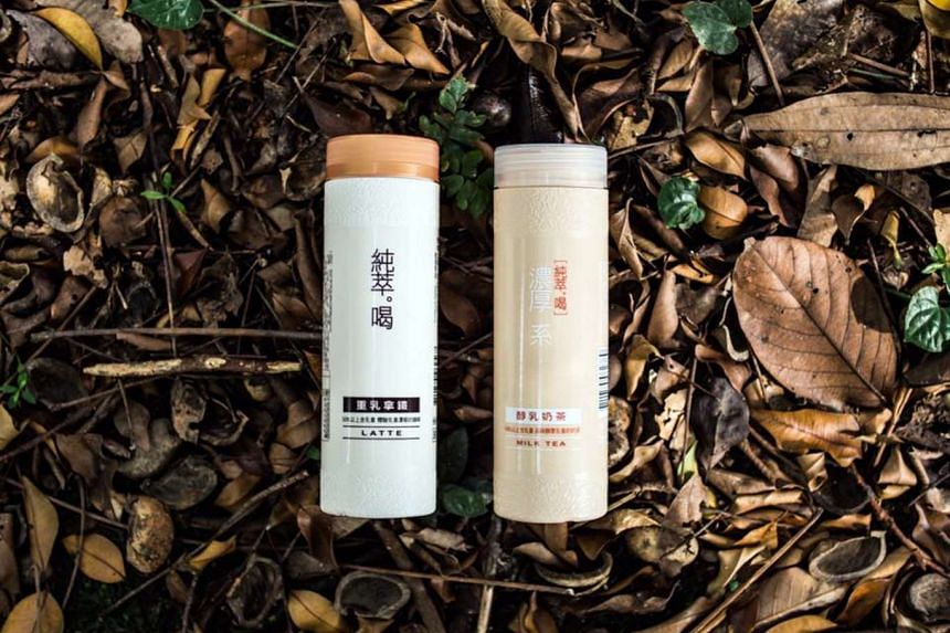 Popular Taiwanese bottled milk tea Chun Cui He (right) has been recalled by AVA for containing a food additive that is not permitted. The recall does not affect the brand's other flavour, latte (left).