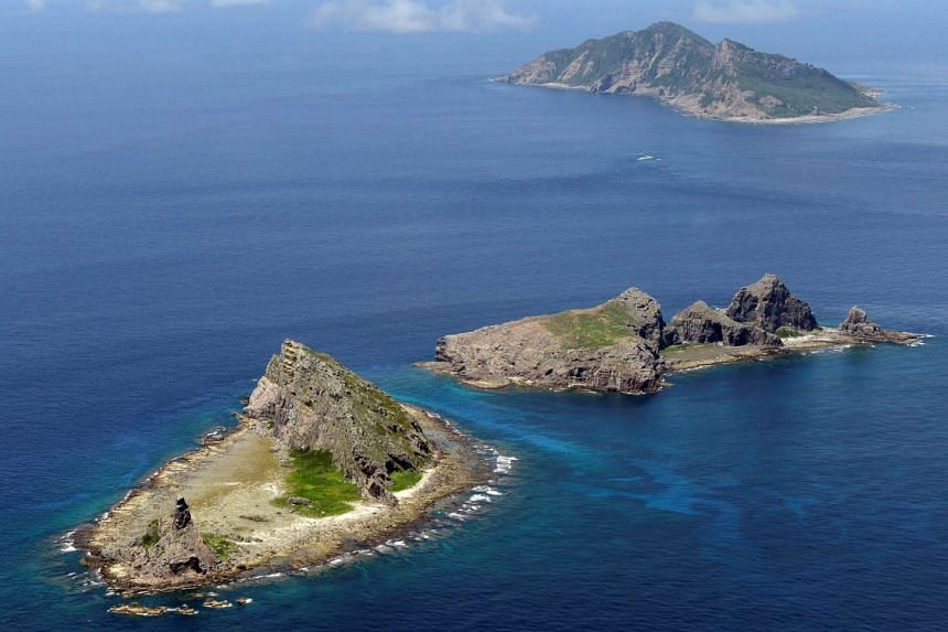 Japan has told China it must stop violating its territory in the East China Sea near the Senkaku/Diaoyu islands (pictured).