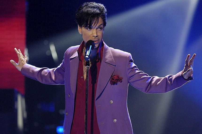 Singer Prince (above) died on April 21 at his home and studio outside Minneapolis.