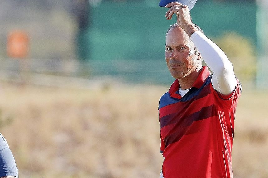 US golfer Matt Kuchar at the Rio Olympics, where he won bronze. He is one of those in contention for the remaining spots on the US Ryder Cup team as captain Davis Love III aims to end the stranglehold of Europe.