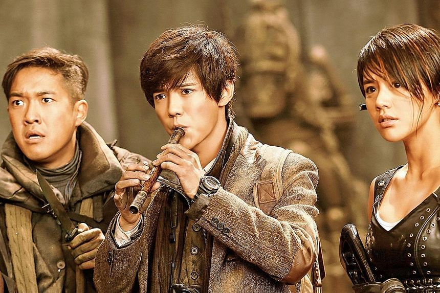 Time Raiders' (from left) Zhang Boyu, Luhan and Ma Sichun.