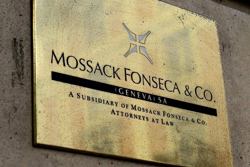 A plate of the Geneva office of the law firm Mossack Fonseca is seen on June 16 in Geneva.