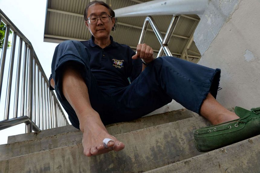 """Once bitten, twice shy. Dr Lim's wound is healing well, but he says: """"It was my first and last time with a dolphin. We have the idea they are friendly and harmless, but they are still wild animals."""""""