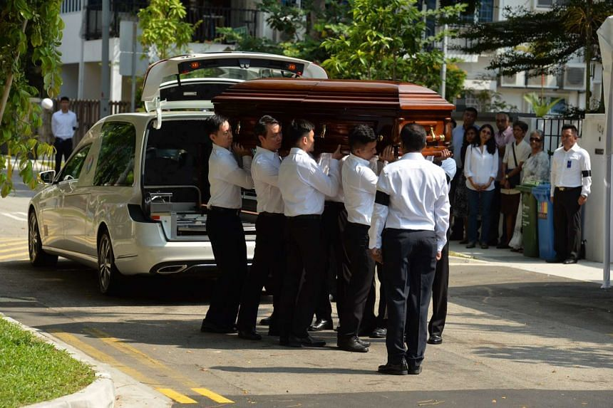 The hearse of former president SR Nathan arriving at his home yesterday. In a conversation on June 16, Mr Nathan mused on many concerns, including growing anti-foreigner sentiment here, and how many Singaporeans, especially younger ones, embraced Wes
