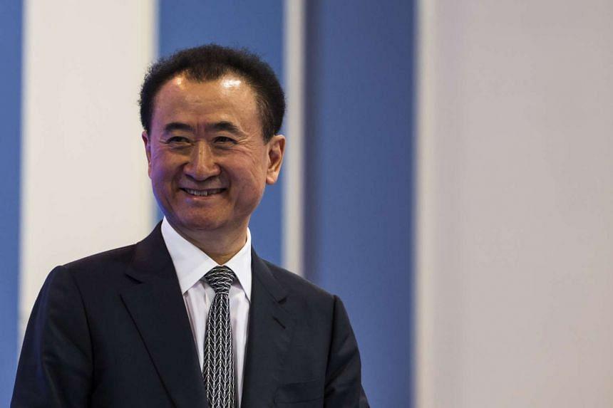 Billionaire Wang Jianlin, chairman and president of Dalian Wanda Group Co., attends the Hong Kong Asian Financial Forum in Hong Kong on Jan 18.