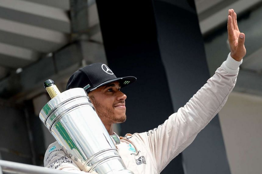 Formula One driver Lewis Hamilton will start the Belgian Formula One Grand Prix from near the back of the grid.