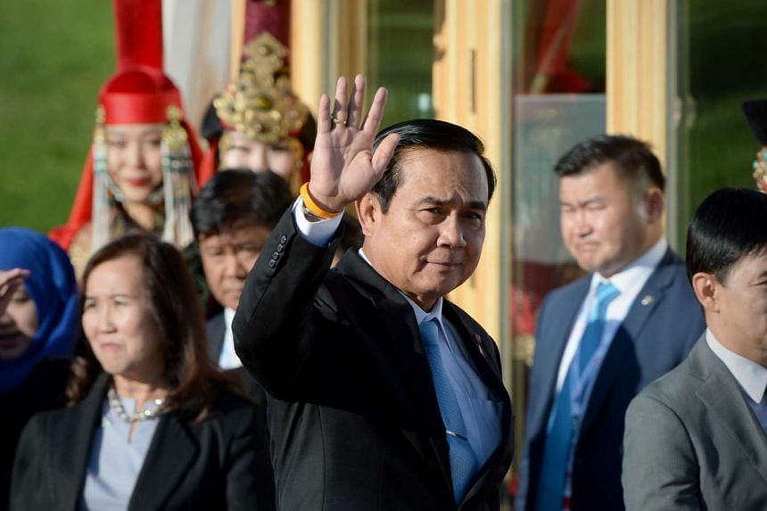 Thailand's PM Prayut Chan-o-cha at the 11th Asia-Europe Meeting in the Mongolian capital of Ulan Bator on July 16.