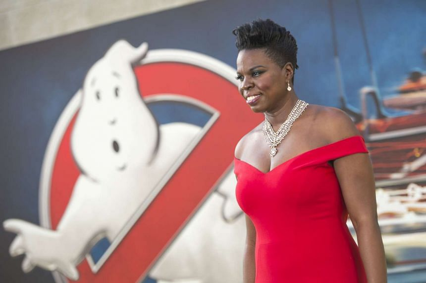 Actress Leslie Jones attends the Los Angeles premiere of Ghostbusters in July 2016.