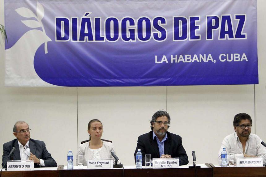 (From left) Mr Humberto de la Calle, Ms Mona Froystad, Mr Rodolfo Benitez and Mr Luciano Marin in Havana, Cuba, August 12.