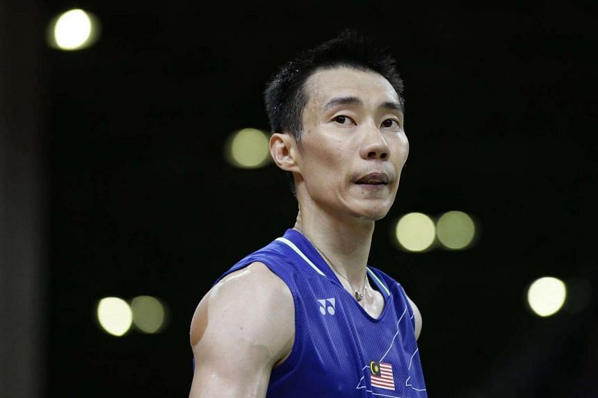 Lee Chong Wei of Malaysia reacting during the Rio 2016 Olympic Games badminton men's singles final on Aug 20, 2016.