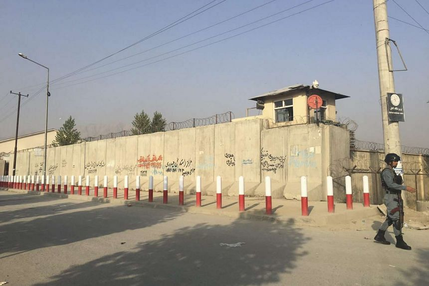 Afghan security officials securing the premises of the American University of Afghanistan after an overnight attack by Taleban in Kabul, Afghanistan, on Aug 25, 2016. According to media reports, at least 13 people were killed and more than 30 injured