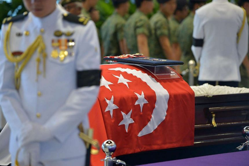 A state funeral service for the late Mr S R Nathan will be held from 3pm to 5pm today, Aug 26, 2016.