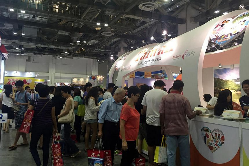 The crowd at the Travel Revolution fair on Aug 21, 2016.