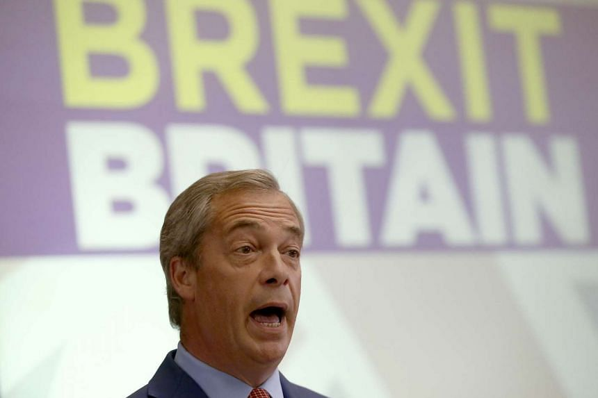 Nigel Farage  speaks at a news conference in London on July 4, 2016.