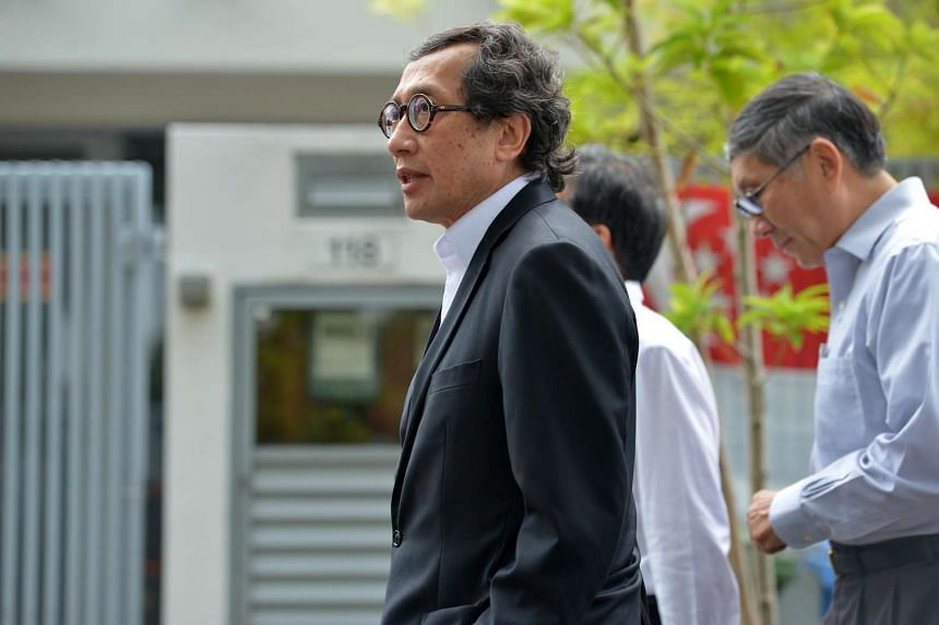 Singapore Ambassador-at-large Bilahari Kausikan arriving at Blk 5, SGH on Aug 22 2016.