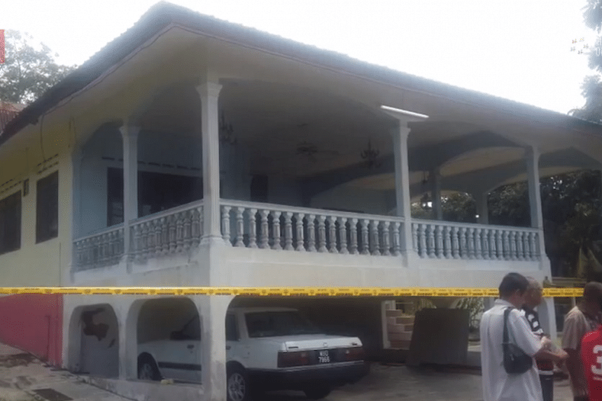 The family home in Malacca where the incident took place.