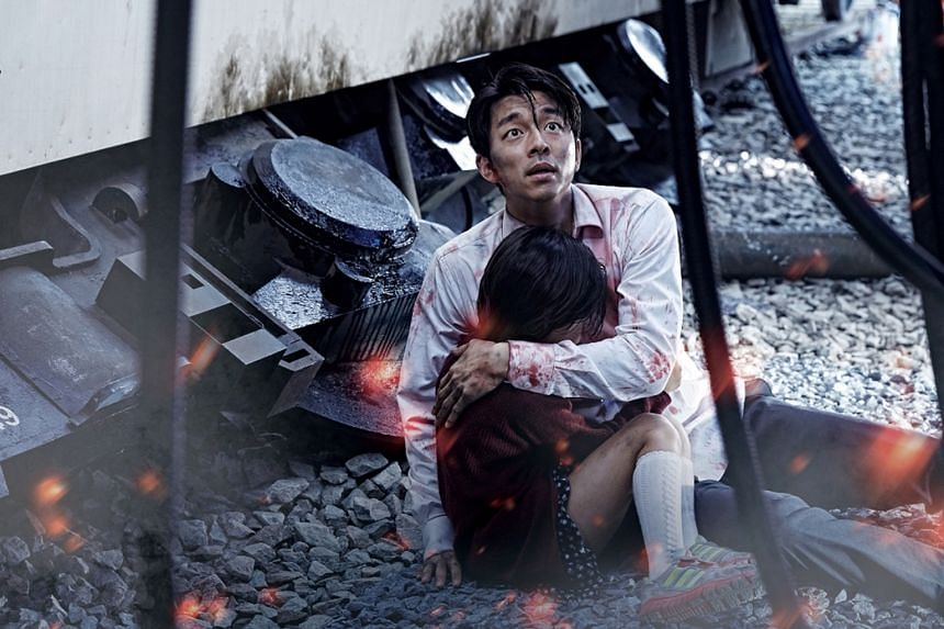 Gong Yoo is a workaholic fund manager who has to deal with a zombie virus in Train To Busan.