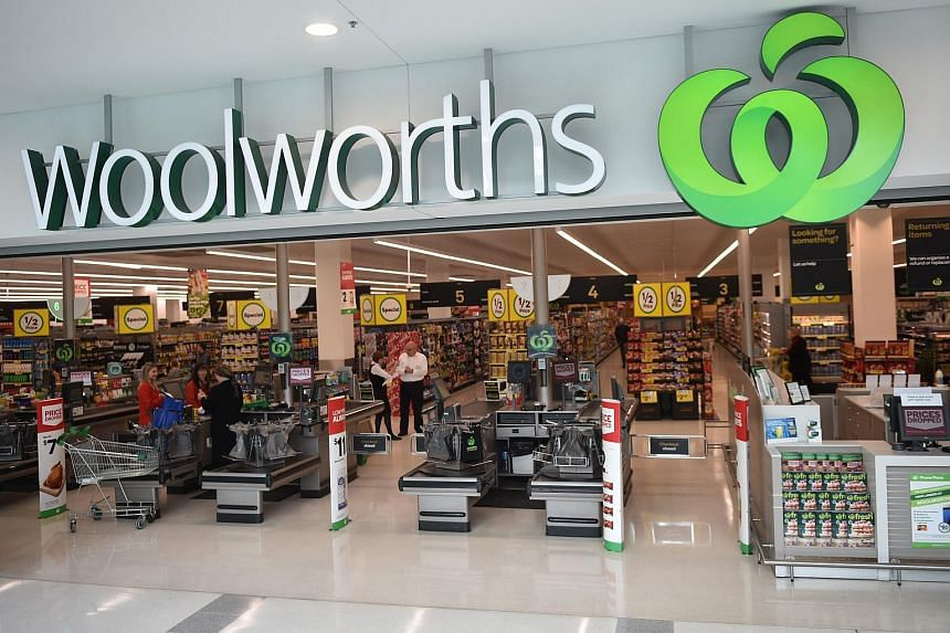 People shopping at a Woolworths store in Sydney on Aug 25, 2016.