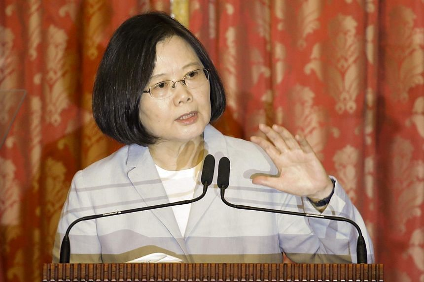 Taiwan's President Tsai Ing-wen speaking during a press conference in Taipei on Aug 20, 2016.