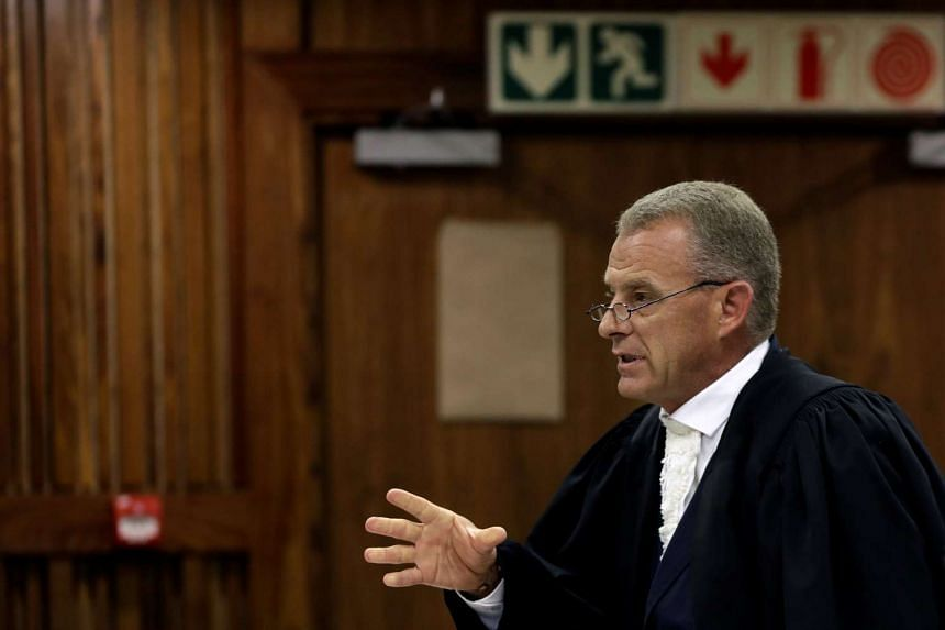 State prosecutor Gerrie Nel during an appeal hearing brought by prosecutors against the six year jail term handed to Oscar Pistorius in Johannesburg on Aug 26, 2016.