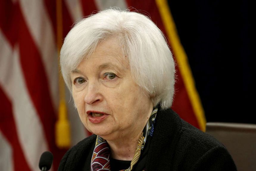 US Federal Reserve Chair Janet Yellen speaks during a news conference following the two-day Federal Open Market Committee (FOMC) policy meeting on March 16, 2016.