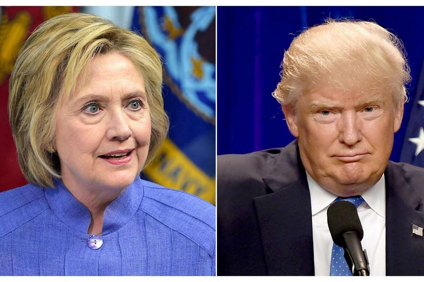 This combination of file photos shows Democratic presidential candidate Hillary Clinton (left) and Republican presidential nominee Donald Trump.