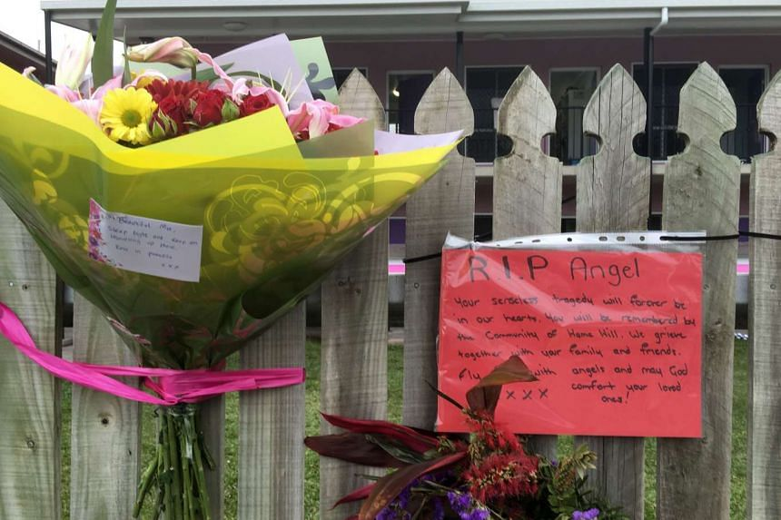 Flowers and well wishes are placed on a fence outside the hostel where British backpacker Mia Ayliffe-Chung, 21, was stabbed multiple times and killed on Aug 23.