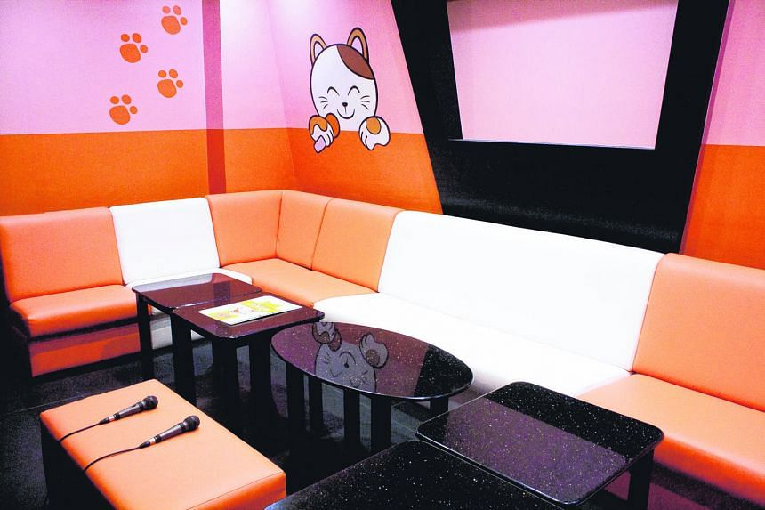 Rooms at Manekineko Orchard Cineleisure come with illustrations of the mascot cat.