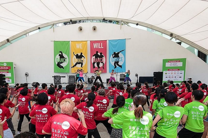 Participants at the 2013 We Will Dance event.