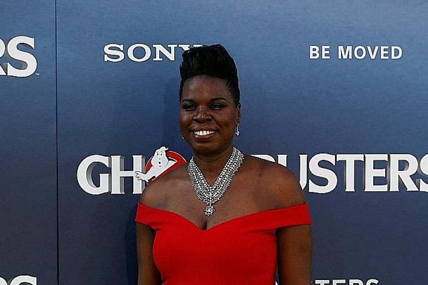 Ghostbusters star Leslie Jones' hacked website allegedly displayed images of her driver's licence and nude photos, among other private documents, before it went offline.