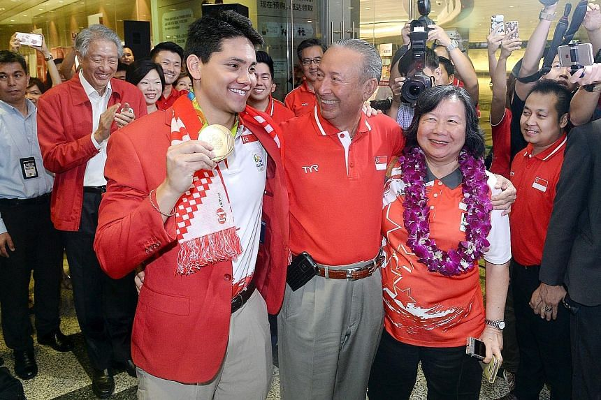 Joseph Schooling and his parents, Colin and May, are facing a flurry of representation offers after his Olympic gold win.