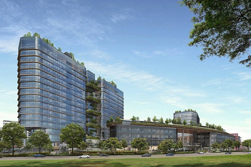 Including those already sold, a total of 365 office units and 101 small-office- loft-offices are up for grabs at Woods Square (left) in Woodlands. Both types of offices are priced from $1,700 to $2,230 per sq ft.