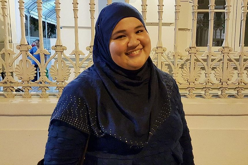 Ms Nursyaheeda Ahmad (above), 27, remembers meeting former president S R Nathan twice: once in 2005 as a student at Admiralty Secondary School, and again in 2014, during an event at the Supreme Court to honour the contributions of the late criminal l