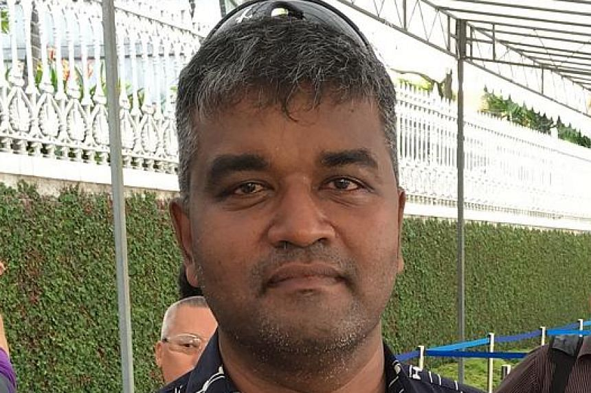 Service engineer S. Sathanantham's (above) son Russell began racing go-karts in 2009 when he was a Primary 3 pupil. He wanted to give the nine-year-old a surprise to encourage him.