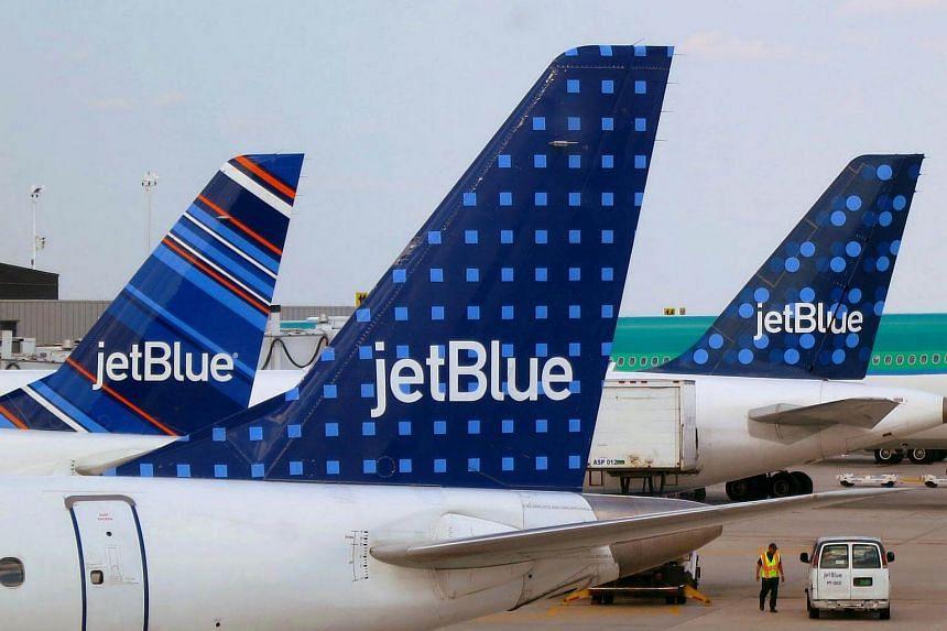 JetBlue Airways aircrafts at JFK International Airport in New York.