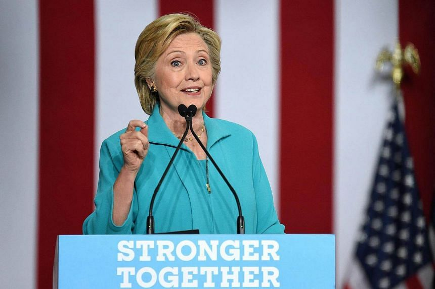 Democratic presidential candidate Hillary Clinton speaks at a campaign event in Reno, Nevada on August 25.