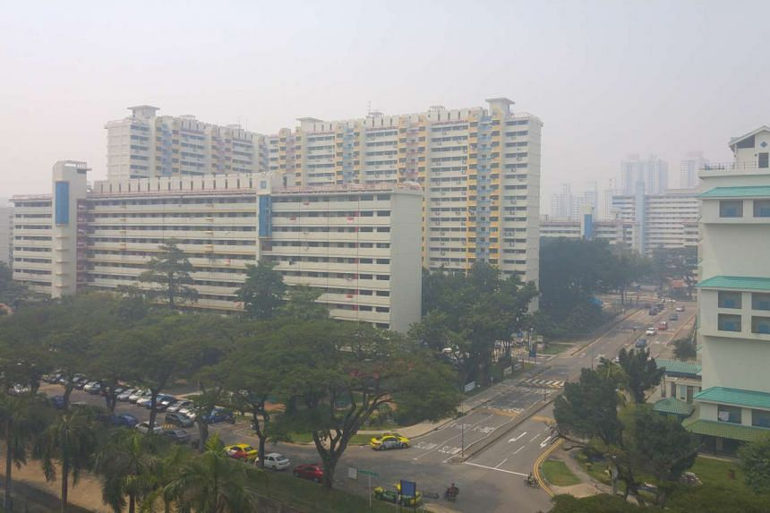 Haze seen from Braddell at 12pm on Aug 26.