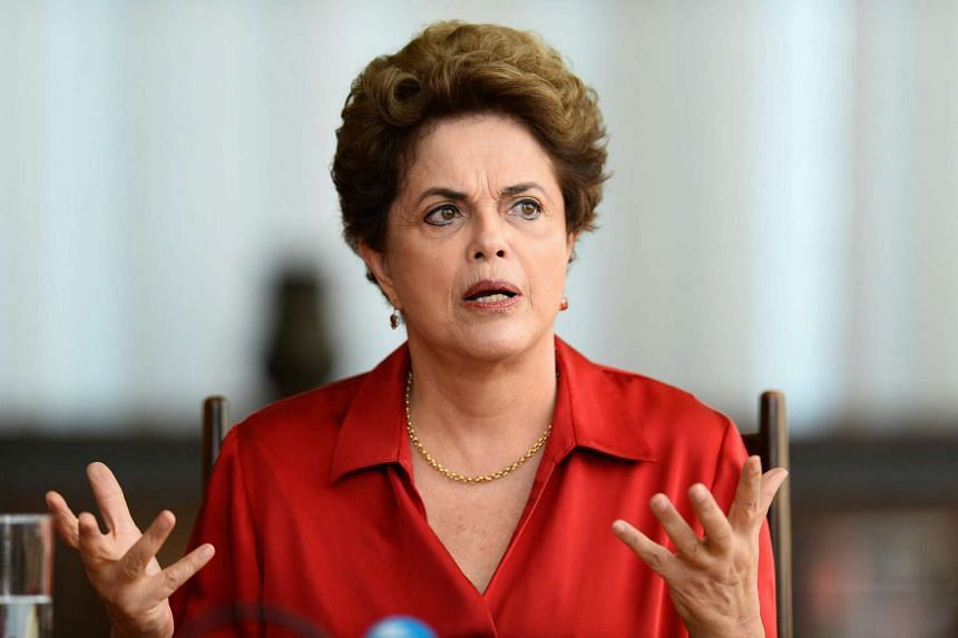 Rousseff meets with foreign correspondents in Brasilia on Aug 18, 2016.