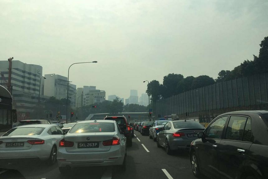 The view outside Singapore Botanic Gardens at 10am on Friday.