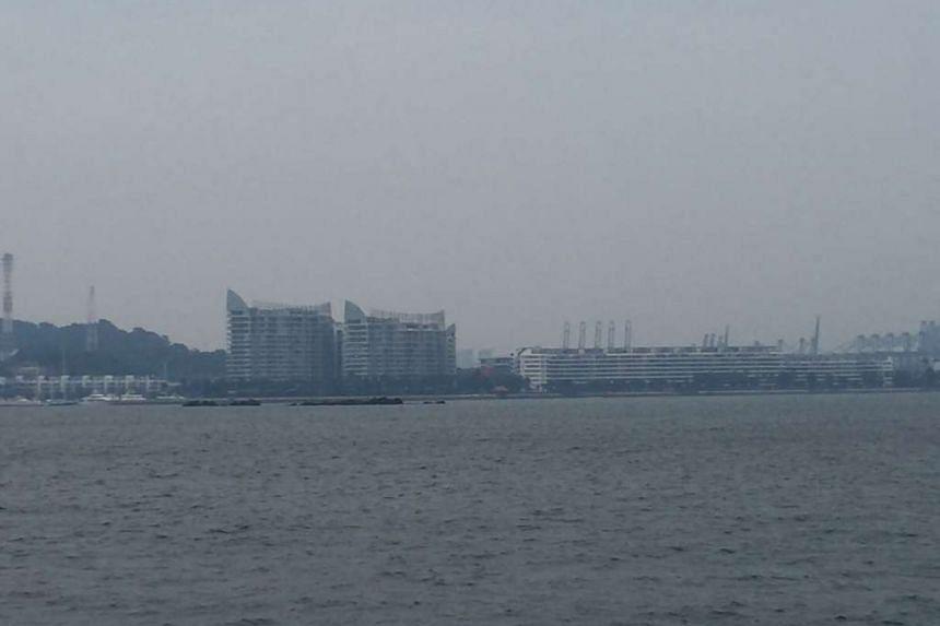 A hazy Singapore's skyline on Friday morning.