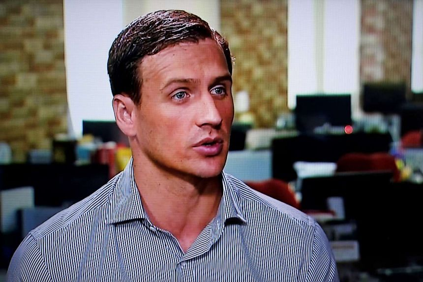 Olympic gold medallist swimmer Ryan Lochte gives an interview to Globo TV on Aug 20, 2016.
