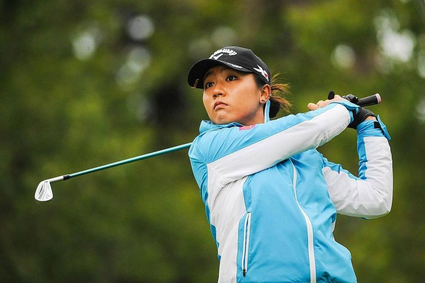 Lydia Ko of New Zealand during the first round of the Canadian Pacific Women's Open on Aug 25, 2015.