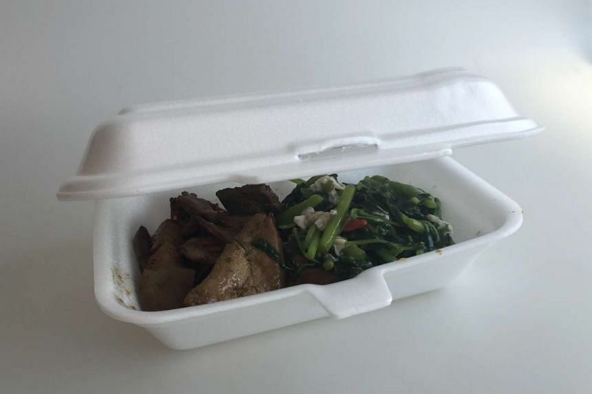 SOME OF THE DISPOSABLE PACKAGING TO BE STUDIED: Polystyrene foam clamshell box