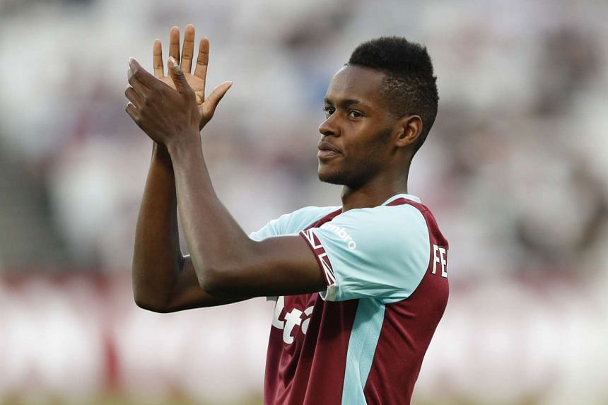 West Ham United's new signing Edimilson Fernandes is introduced to fans.